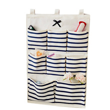 Puting Wall Hanging Organizer Bag Multi Layer Holder Storage Home Decoration Makeup Rack Linen Jewelry 6 And 8 Pocket