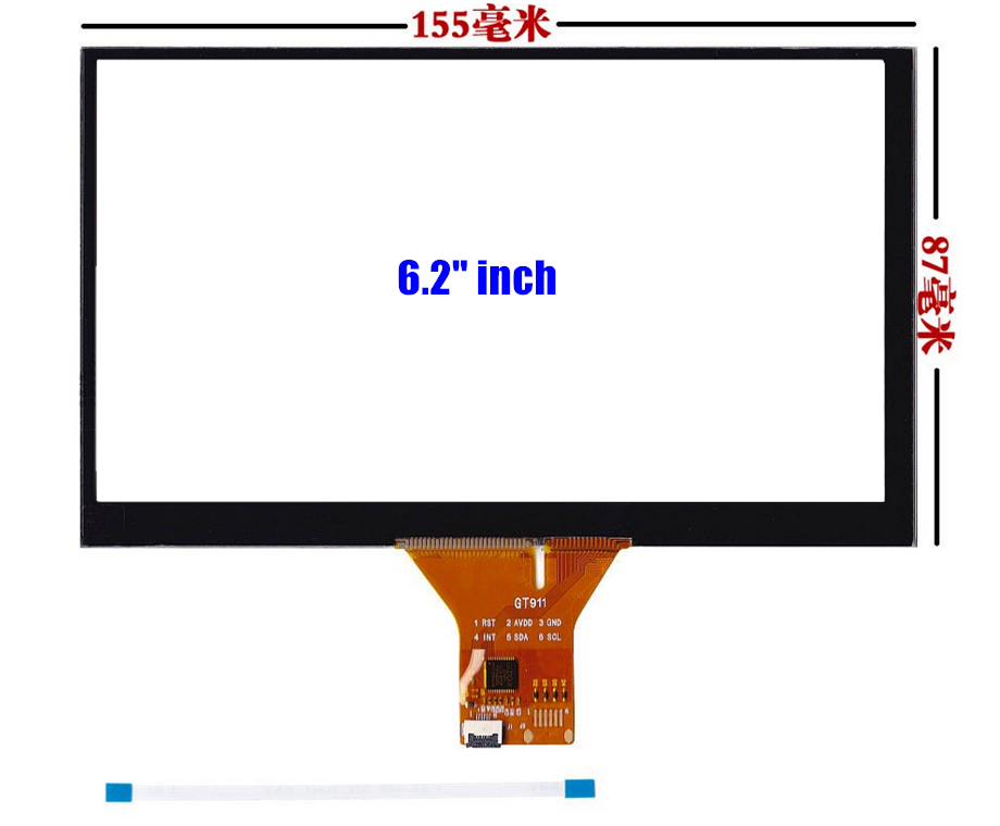 fleet sales 6.2'' 6.95 7'' 8'' 9''inch Capacitive Touch screen GPS car navigation Touch screen panel Glass (Support android)