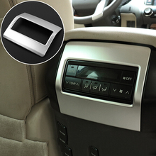 For Toyota Land Cruiser Prado FJ150 LC150 2010-2017 ABS Matte Rear Air Conditioning Vent Outlet Cover Trim Car-Styling Accessory for toyota land cruiser prado fj150 lc150 2010 2017 abs matte rear air conditioning vent outlet cover trim car styling accessory
