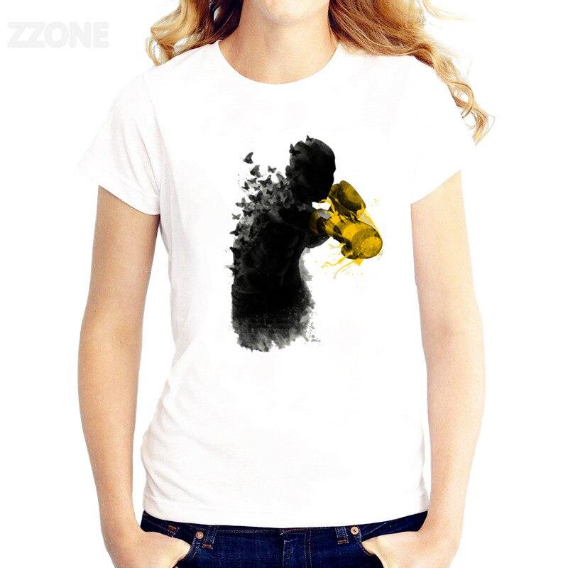 boxer T-shirt Women TShirt Short Sleeve T-shirts O-Neck Tops Fashion Printed Good Quality Tee Shirts HWP109