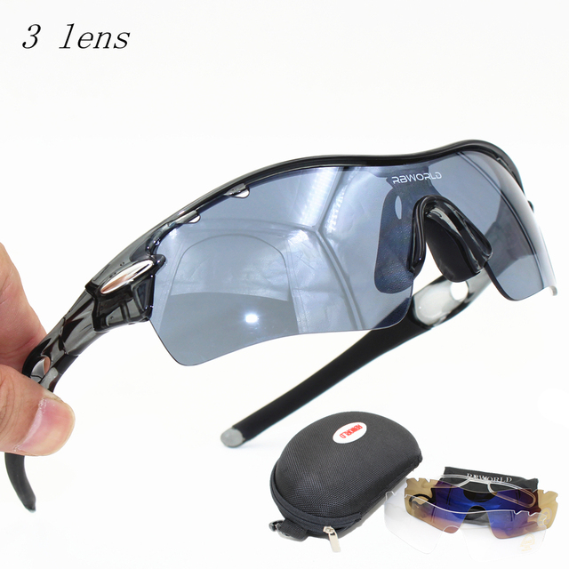 a6d46957ccd TR90 Ski Goggles Sun Glasses Outdoor Sports Bicycle Bike Sunglasses 3 Lens  Uv400 Myopia Cycling eyewear