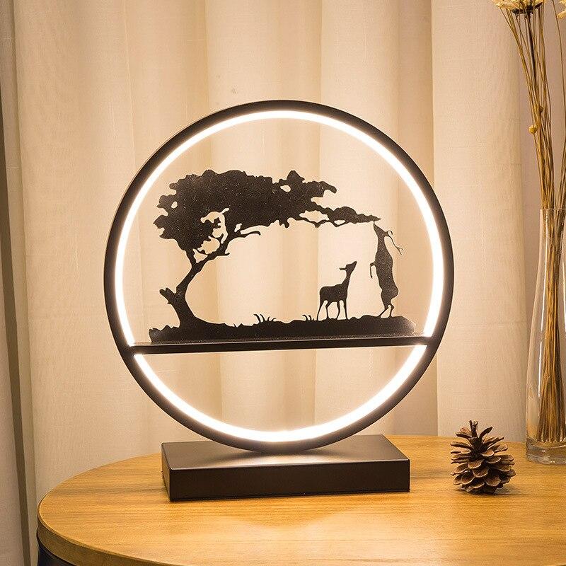 Originality Multipurpose Night Lights Metal Lamp Body Warm Light/Cold Light Table Lamp For Bedroom Study Living Room Night Light