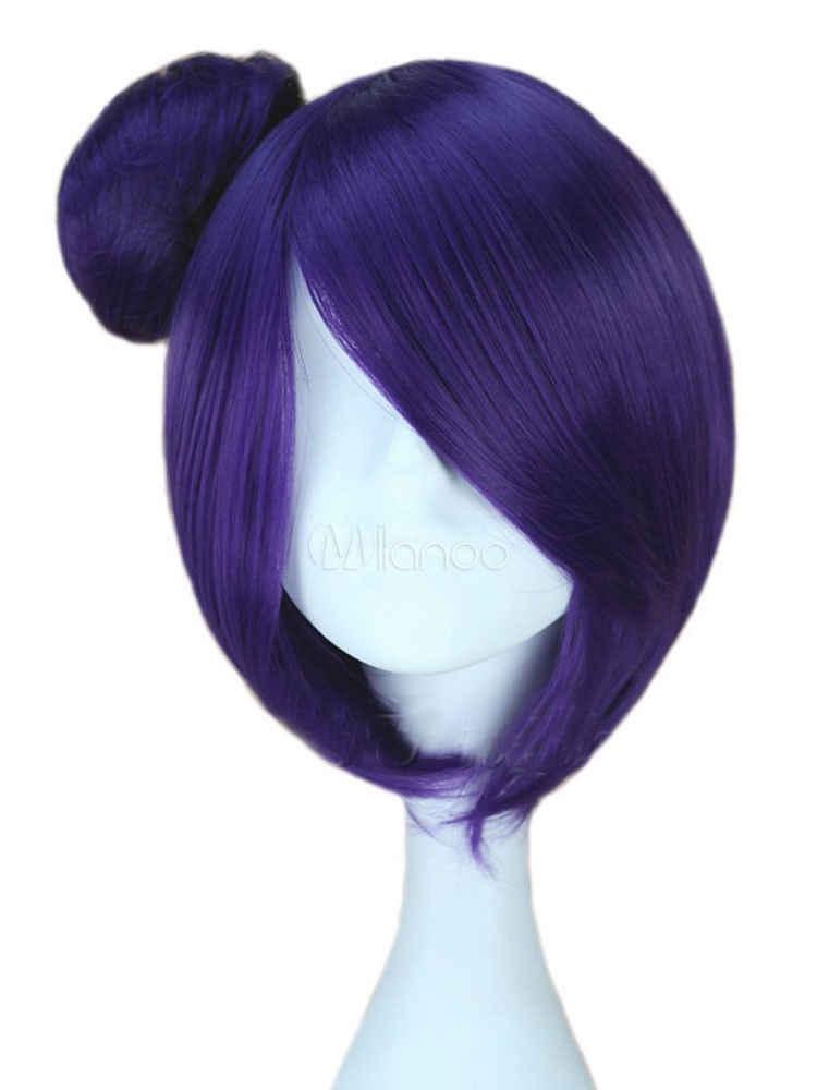 Наруто экоштуки Конан Фиолетовый прямой короткий Косплэй парик