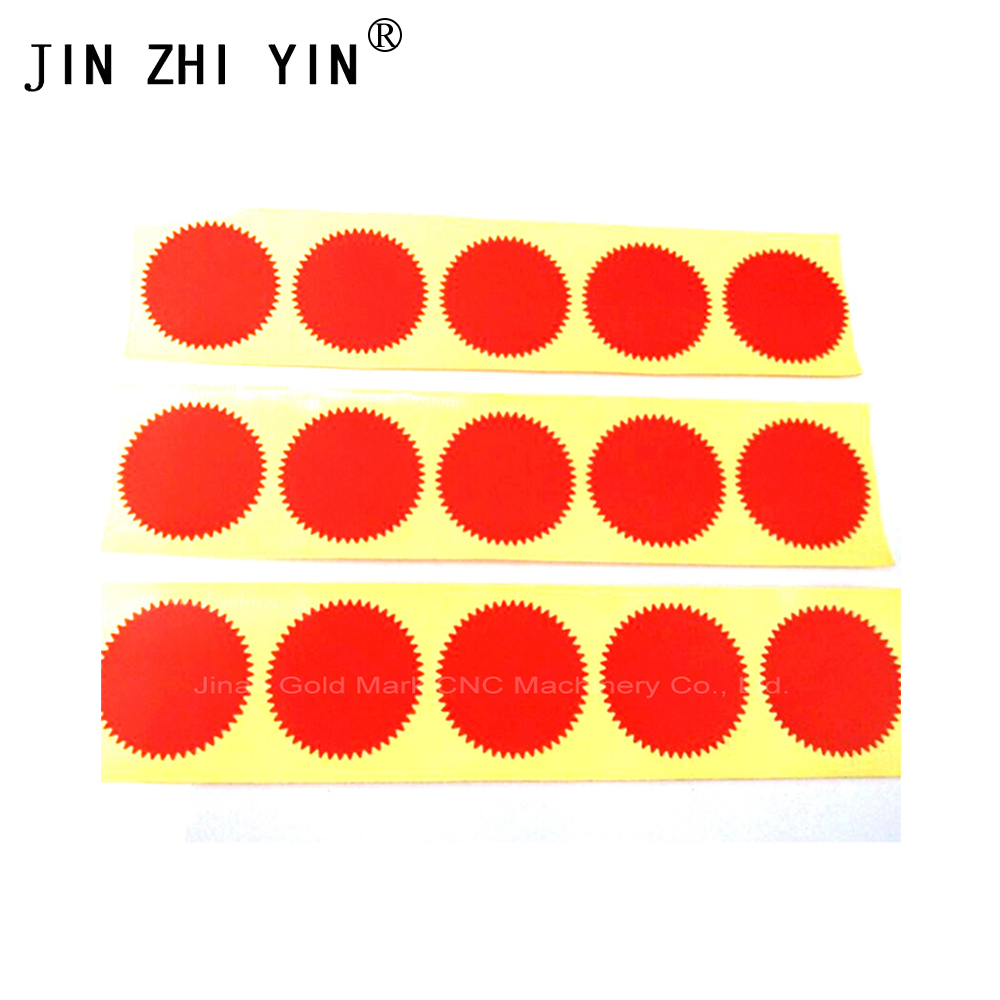 200pcs Embosser Sticker Dia 45mm  Gold/Sliver/Red Color For Customize Embossing Stamp,Personalized Embossing Seal For Name Card