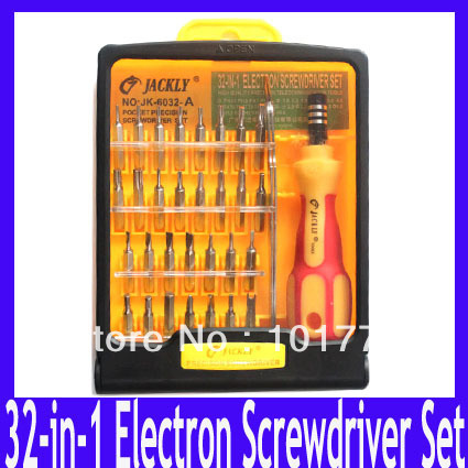 Free Shipping Applied Precision telecommunication tools 32-In-1 Electron Torx Screwdriver Tool Set ,5pcs/lot