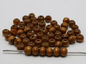 500 Pcs Coffee 8mm Round Wood Beads~Wooden Spacer Beads Jewelry Making