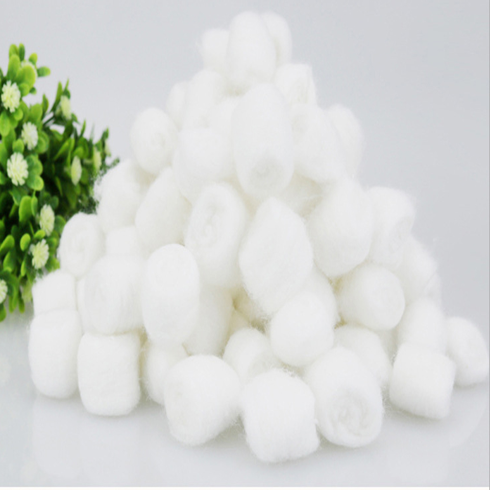 Disposable Cotton Ball Cotton Absorbent Cotton Ball Baby Cotton Tampons 25g Family Standing
