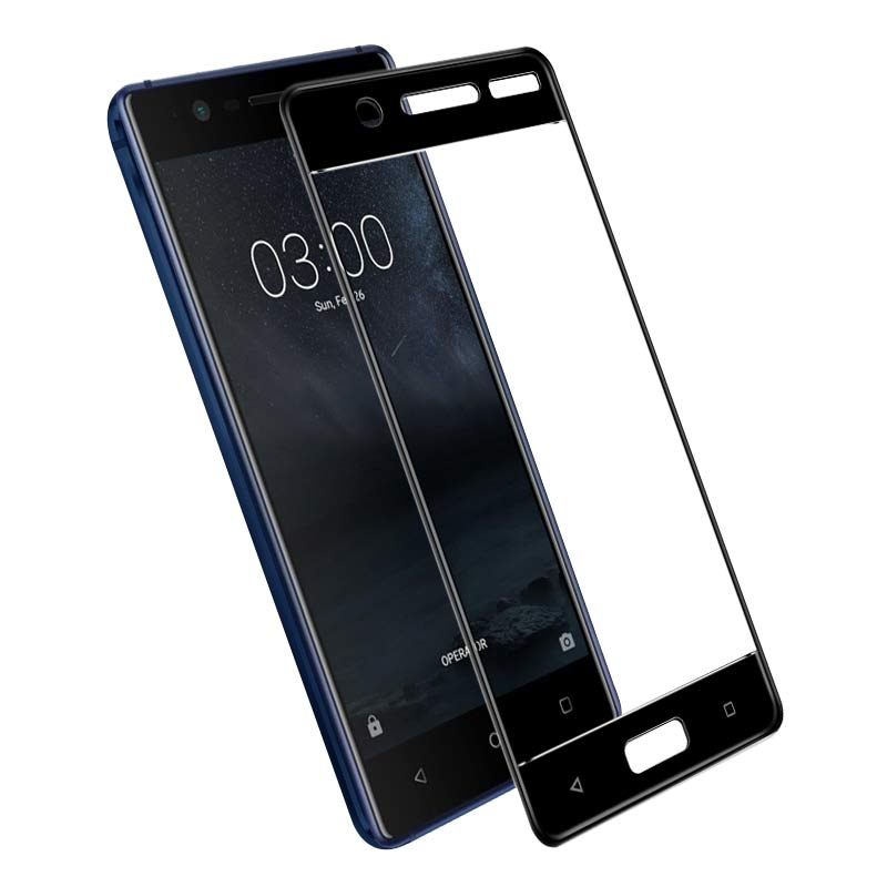 For Nokia 5 Tempered Glass 9H 3D Full Cowl Explosion-Proof Display Protector Movie For Nokia 5