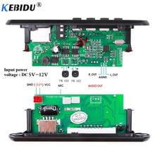 Reproductor MP3 de 5 12V para coche, Módulo de placa decodificadora de MP3 integrado manos libres con Control remoto, USB, FM, Aux