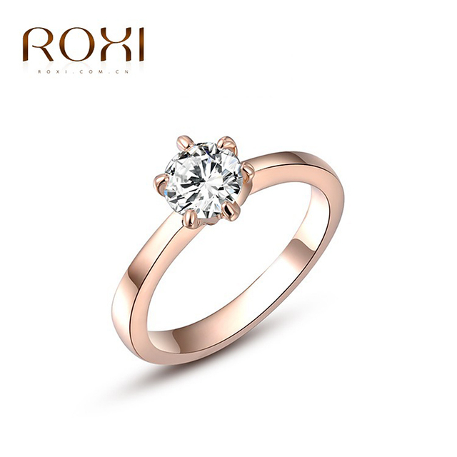 3d2d3eaa7a5 US $1.52 15% OFF|ROXI Ring For Women Fashion Jewelry Rose Gold White Gold  Color With Zircon Ring Wedding Engagement Ring Gift bague femme -in Rings  ...
