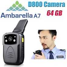 Free Shipping!Original Full HD 1080P Multi-functional Body Worn Police IR Night Vision 64GB Police Camera Police Body Camera