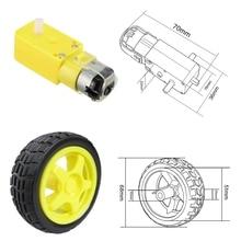 TT Мотор умный автомобиль мотор-редуктор для роботов для arduino Diy Kit колеса умный автомобиль двигатель для шасси роботизированное Дистанционное управление автомобиль DC мотор-редуктор