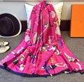 Весна лето осень зима стиль битник бренд шарф Солнцезащитный Крем дамы модные Обертывания платки шелковый Аниме шали шарфы écharpe розовый