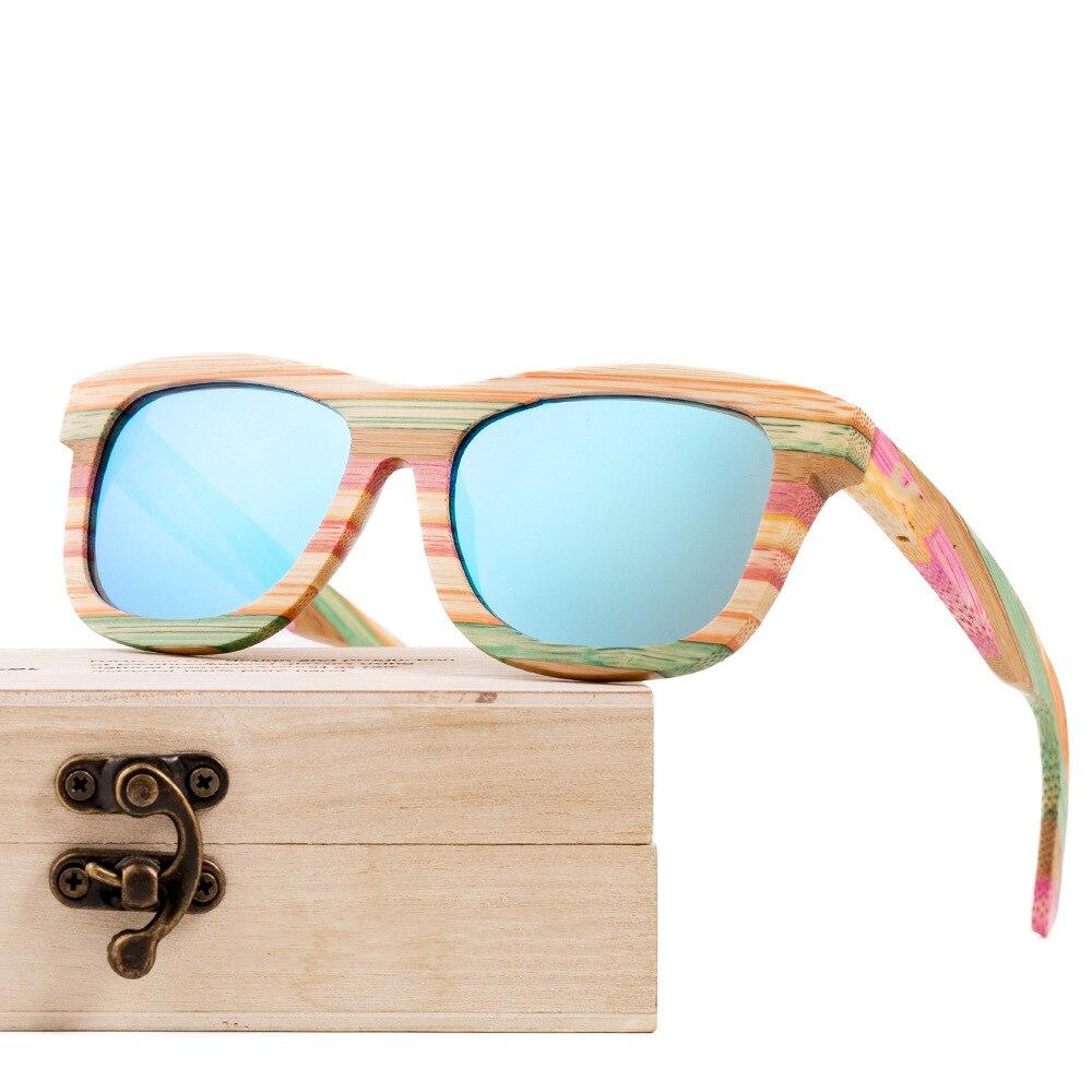 Wooden Sunglasses Bamboo Vintage Polarized Oculos-De-Sol Women for Feminino Ladies