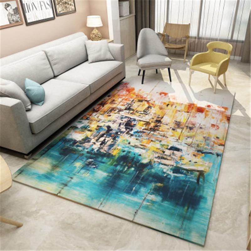 LCTMMYGS Simple geometric design living room carpet Nordic ...
