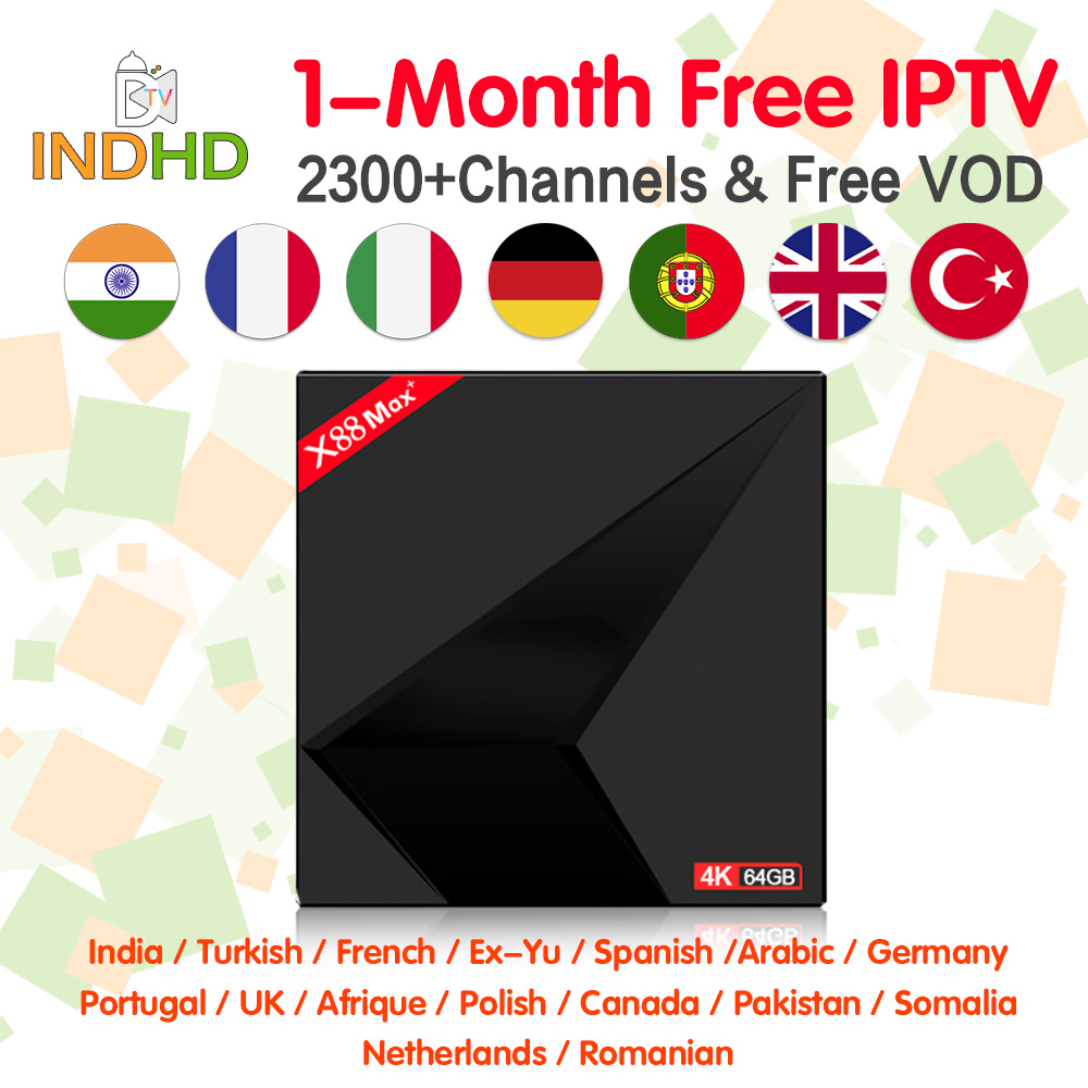 IPTV India Italy X88 Max 1 month Free IP TV Arabic EX YU Pakistan IPTV Subscription 4K Box IPTV Canada Turkey IP TV Italy Indian-in Set-top Boxes from Consumer Electronics