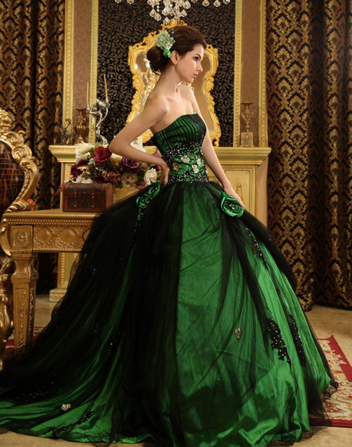 66ae26cc4d7 Vintage Green Black Gothic Lolita Costumes Ball Gowns Quinceanera Dress  with Jacket Masquerade Flowers vestido de 15 Dresses