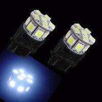 PA LED 10PCS x 3157 13SMD 5050 WHITE LED Auto Back Car High Mount Brake Light 12V
