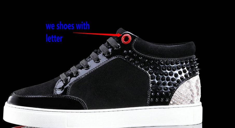 Ongekend china store python skin Royaums women black studs sneaker royaums MZ-17