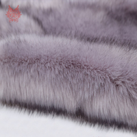Heavyweight 5cm Long Faux Fox Fur Fabric For Coat DIY Accessories Top Dyed Melange Fluffy Fur