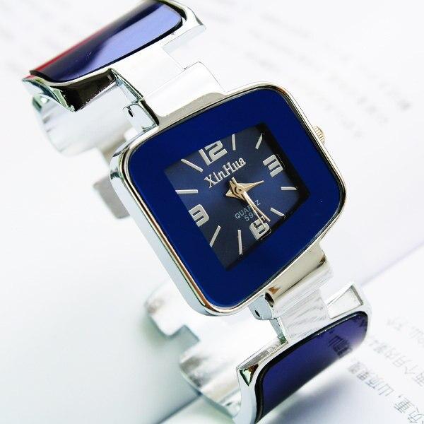 Marca de lujo precio al por mayor XIRHUA cuadrado Dial Analog mujeres moda señoras señora estudiante brazalete pulsera Relojes de pulsera de regalo