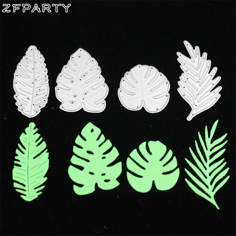 ZFPARTY Tropical Monstera Leaves Cutting Dies Stencils for DIY Scrapbooking Stamp/photo album Decorative Embossing DIY Cards christmas ornament