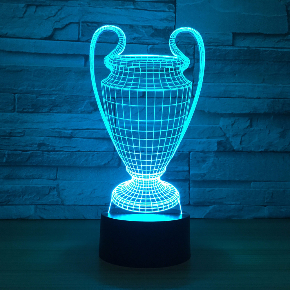 Football Cup Trophy 3d 7 Color Led Night Lamps For Kids Touch Led Usb Table Lampara Lampe Baby Sleeping Nightlight Drop Ship image