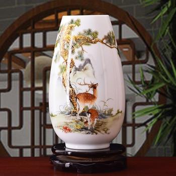 christmas Jingdezhen pottery flower vase flower arrangement modern Chinese living room flower arranging TV cabinet decoration