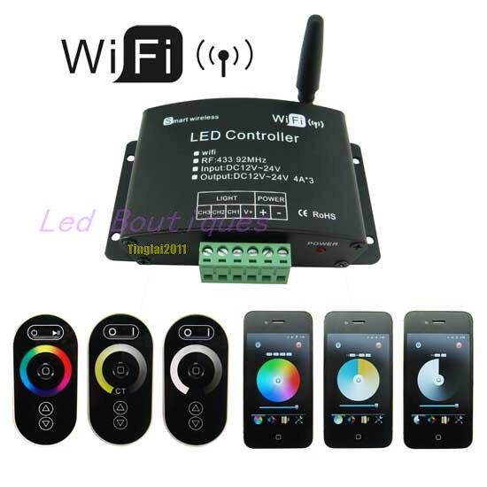 Nuovo Arrivo WiFi LED Controller RGB Colore Regolazione della Temperatura Dimming Funzioni 3-INNuovo Arrivo WiFi LED Controller RGB Colore Regolazione della Temperatura Dimming Funzioni 3-IN