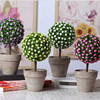 6 Style Artificial Fake Plant Pot Wedding Photo Booth Simulation Leave Small Grass Bonsai Home Garden