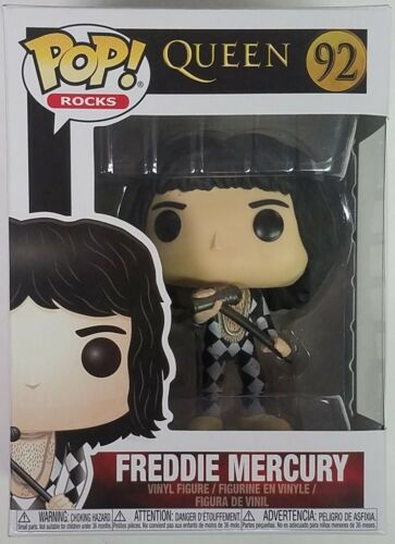 No Box Official Funko pop Rocks: Queen - <font><b>Freddie</b></font> <font><b>Mercury</b></font> Vinyl <font><b>Action</b></font> <font><b>Figure</b></font> Collectible Model Toy image