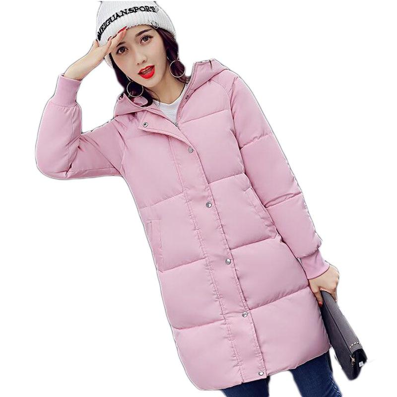 Style Longues Femmes Femme pink Manches Rembourré Solide En black Veste Capuchon A230 Épais Manteau Nouveau Coton army Green 2018 Couleur Long À Grey xvdSq0ASw
