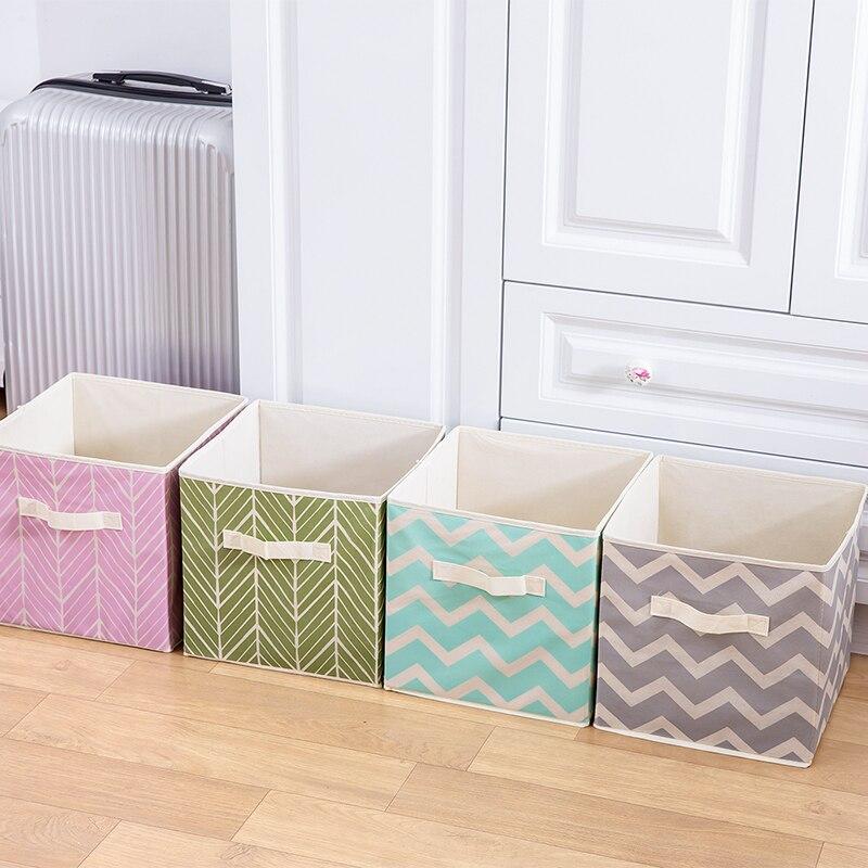 b47fcaf36f8 Nueva plegable tela no tejida caja de almacenamiento cubo de basura para  los juguetes para los niños artículos organizador de almacenamiento de  contenedores ...