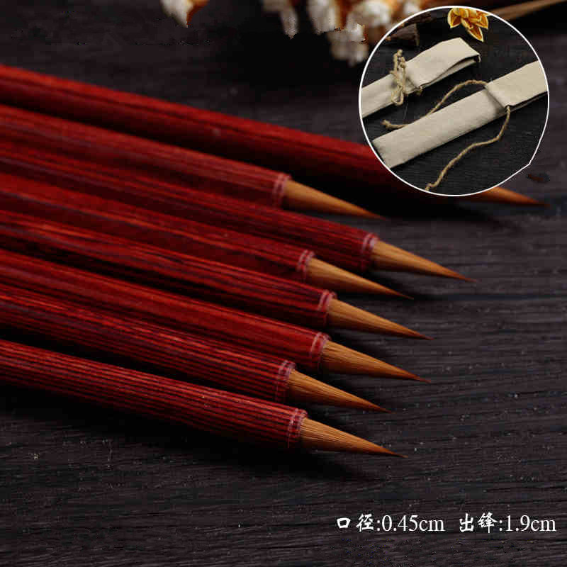 Quality Chinese Calligraphy Brushes pen weasel hair Long antithetical writing calligraphy writing brush top grade high quality masters pen the fine quality goods of brushes boxed gift calligraphy brushes pen chinese brushes gift