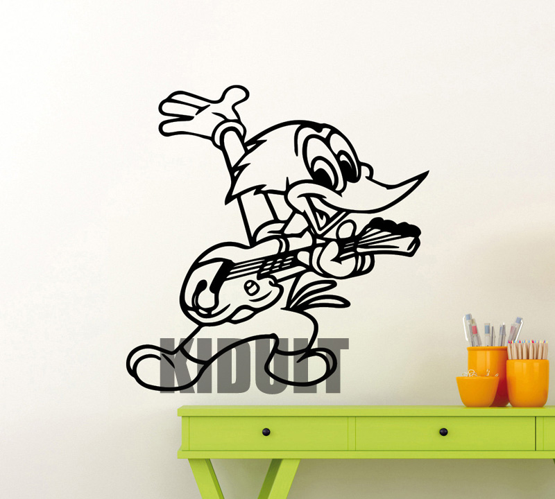 Woodpecker Woody Woodpecker Cartoon Wall Decals Wall Stickers Vinyl Stickers Children and Family Room Interior Stickers Mural