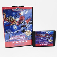 Arrow Flash 16 bit MD card with Retail box for Sega MegaDrive Video Game console system