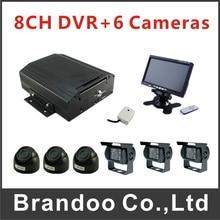 8CH Van Bus Truck Mobile DVR Kit H.264 Video Audio Input Video Recorder Car DVR Kit