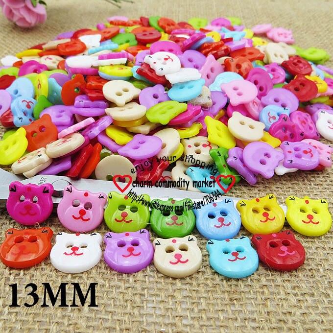 АКЦИЯ 100 шт смешанные формы много цветов Сделай Сам Скрапбукинг Мультяшные кнопки пластиковые кнопки детская одежда швейные принадлежности P-001 - Цвет: 14