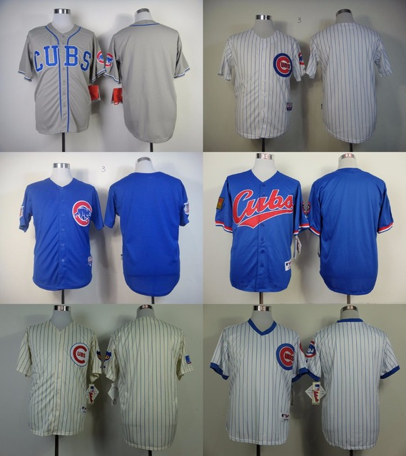df4d159c8c6 Baseball Chicago Cubs Jersey Blank Blue White Pinstripe Jersey No Name No  Number Cubs Baseball Jersey