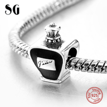 925 Sterling Silver Perfume Bottle Charm Beads Fit Original pandora Bracelet Berloques Authentic Pendants For Women DIY Jewelry