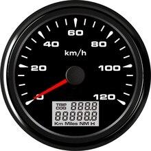 120 กม./ชม. GPS เครื่องวัดความเร็วรถมอเตอร์ 8 สี Backlight กันน้ำ Digital Speedometer 9 ~ 32 V Trip \ COG \ ODO 85 มม.