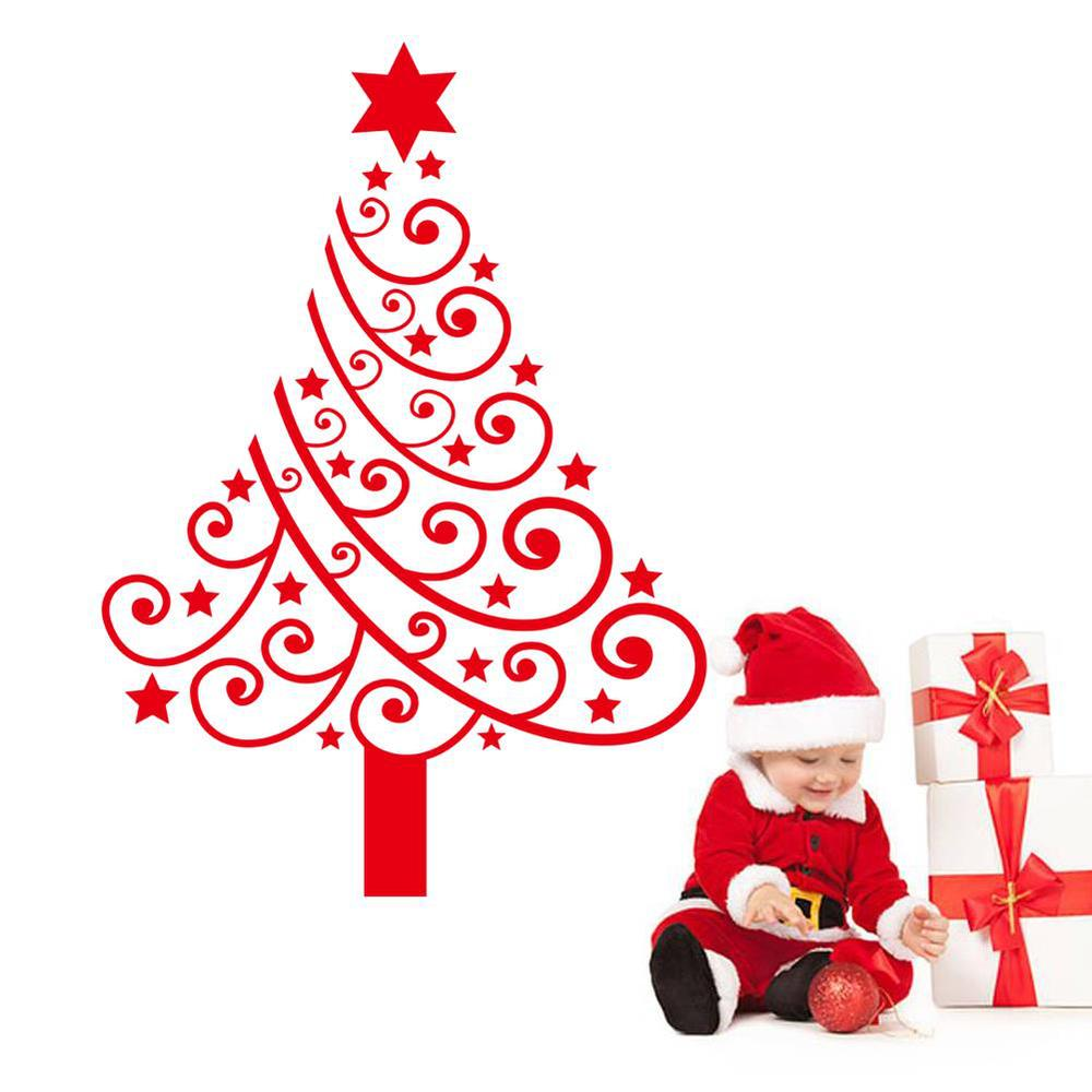 Christmas Tree Merry Christmas: Merry Christmas Vinyl Tree Wall Stickers Removable