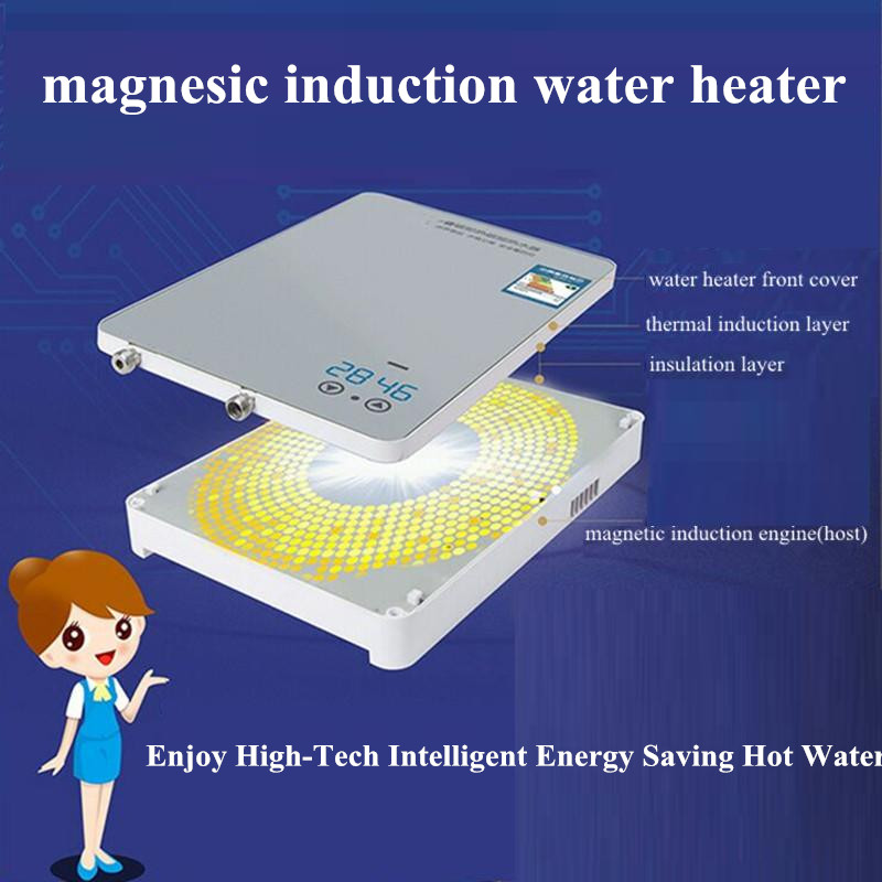 8600W magnesic induction thermostatic water heater for bathroom Shower Kitchen Sink faucet endless instant hot heating