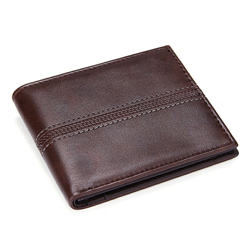 Solid Men's Leather Wallets Business Men Slim Short Wallet Luxury Design 2 Fold Money Bag Coin Pocket Credit Card Holder Male PU