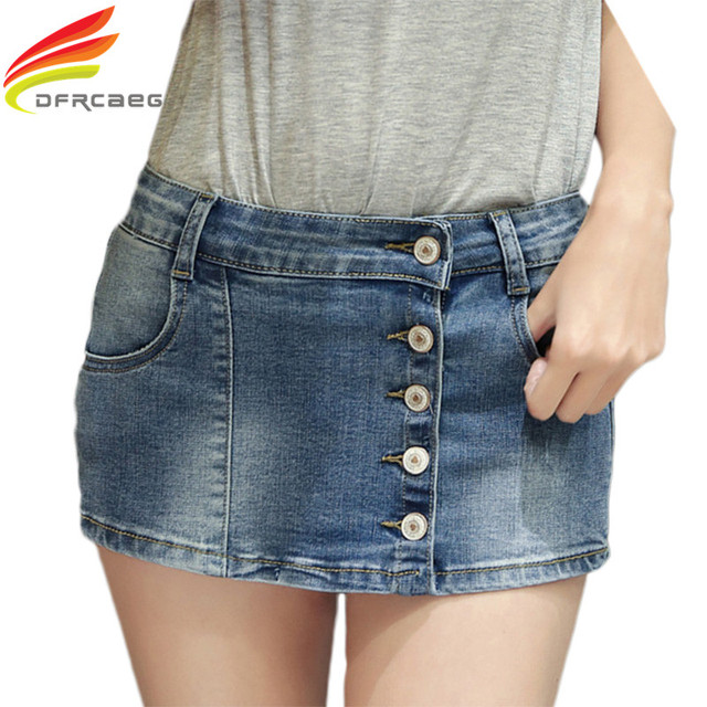 f62551747e500 2018 Summer New Fashion Skort Shorts For Women Plus Size Slim Sexy Single  Button Woman Short