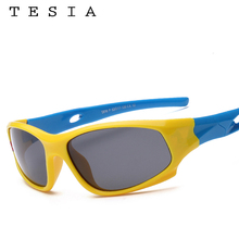 TESIA Super Quality Kids Sunglasses Boys Girls Sports Sun Glasses For Children Polarized Safe Eyewear Oculos Infantil S816