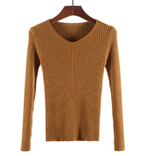 Flying ROC autumn winter women casual sweater long sleeve O-neck knitted slim femme tops