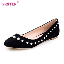 Fashion Women Shoes Woman Flats high quality Casual Comfortable pointed toe Beading Women Flat Shoe New Flats Size 35-46 B254
