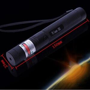 Image 5 - Grün/Rot Laser Pointer 532nm 5 mW 303 Laser Stift Einstellbare Starry Kopf Brennen Spiel lazer Mit 18650 Batterie + ladegerät
