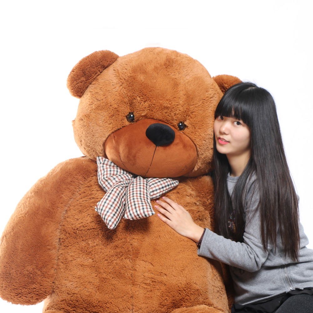 JOYFAY Giant Soft 91'' 230 cm Brown Teddy Bear Stuffed Plush Animals Soft Toy Best gift For Birthday Valentine Anniversary gift archie giant comics 75th anniversary book
